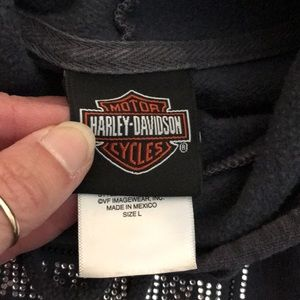 Harley-Davidson Tops - Harley Davidson grey hooded sweatshirt in Large